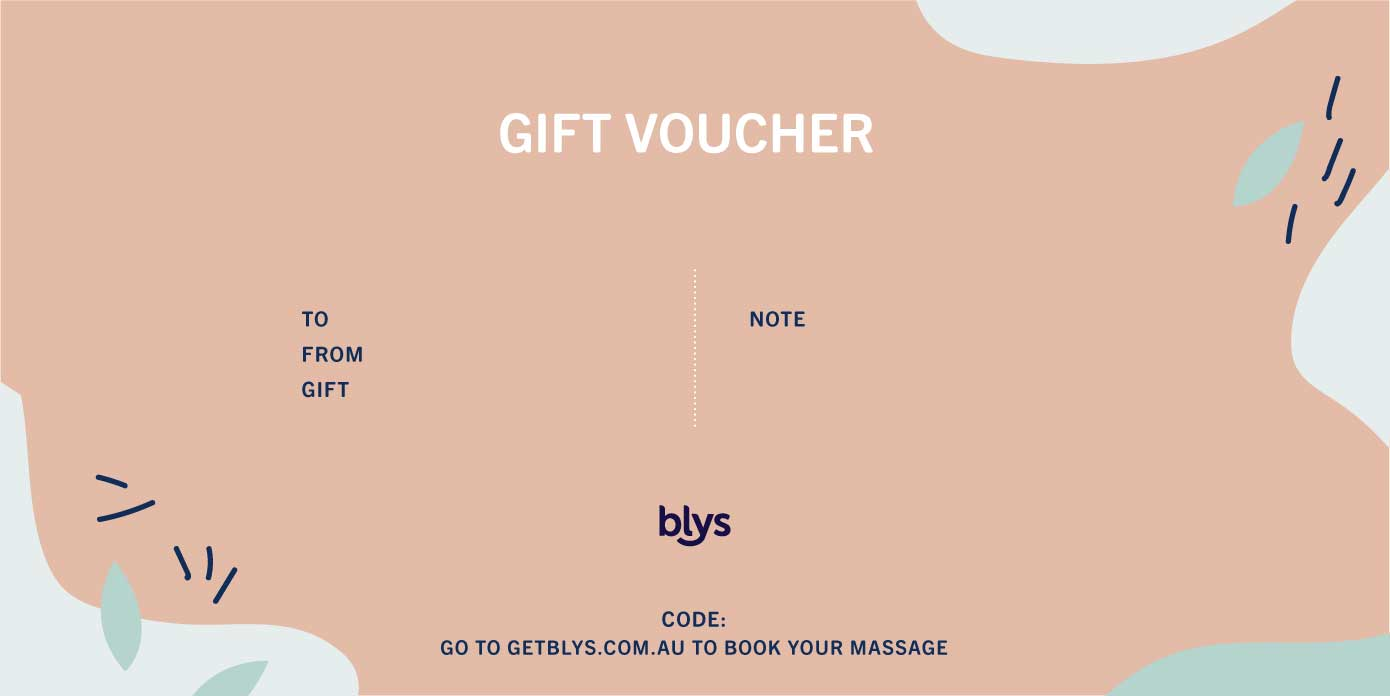 Blys Gift Voucher Massage
